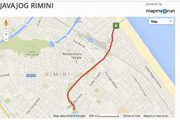 JavaJog Rimini Map